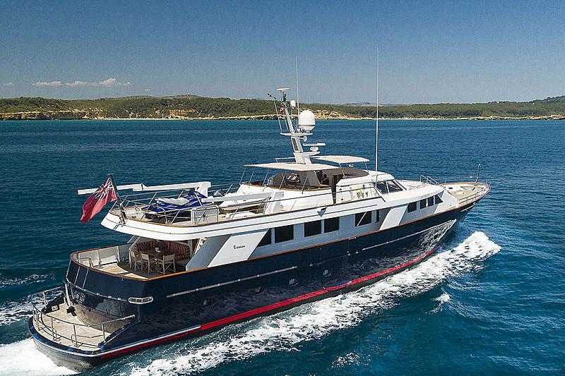 Bel Ami II yacht exterior