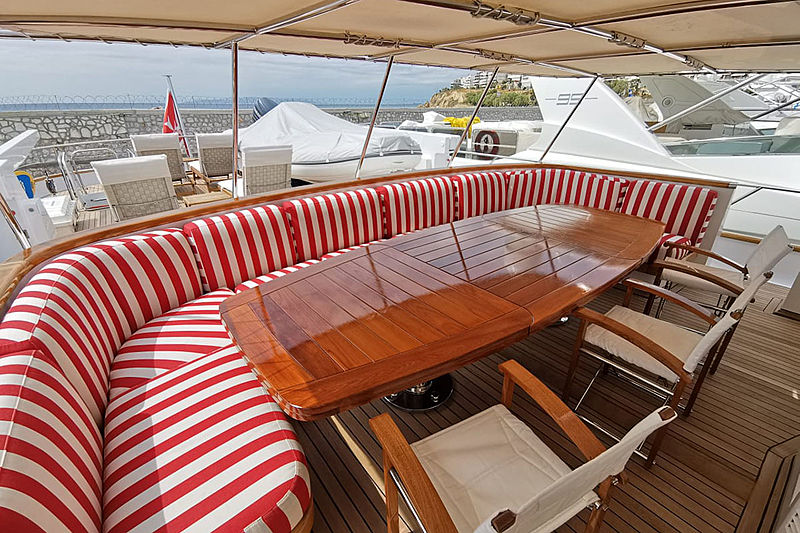 Bel Ami II yacht sundeck