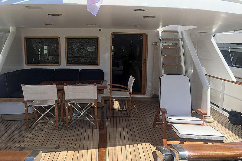 Bel Ami II yacht main aft deck