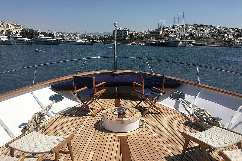 Bel Ami II yacht foredeck