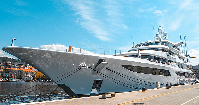 Royal Romance yacht by Feadship in Rijeka, Croatia