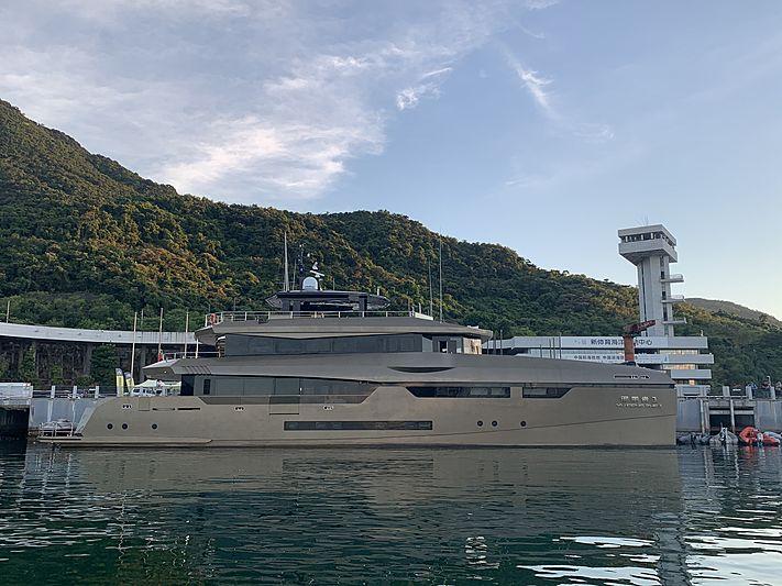 Yu Feng Zhe 1 yacht docked in Shenzhen Dapeng Yacht Club marina