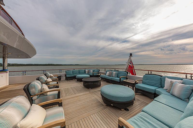 Unbridled yacht sundeck