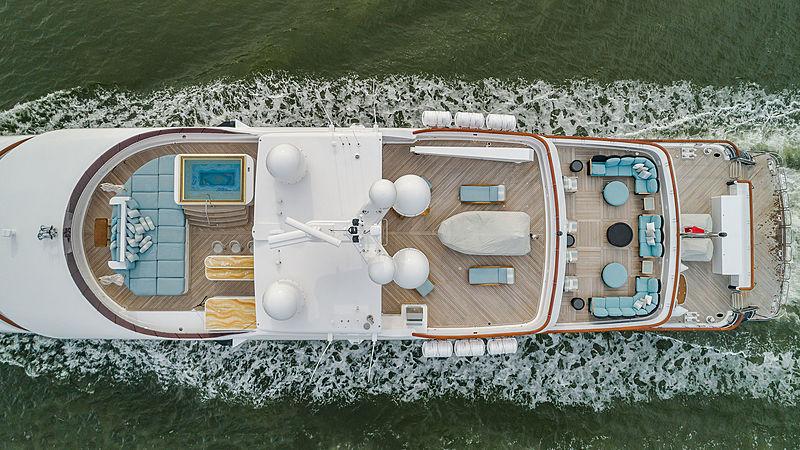 Unbridled yacht aerial