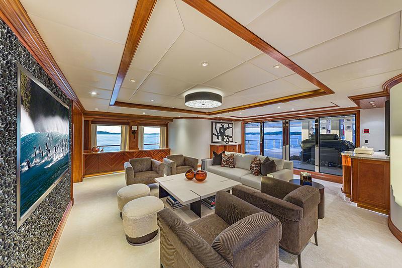 Unbridled yacht saloon