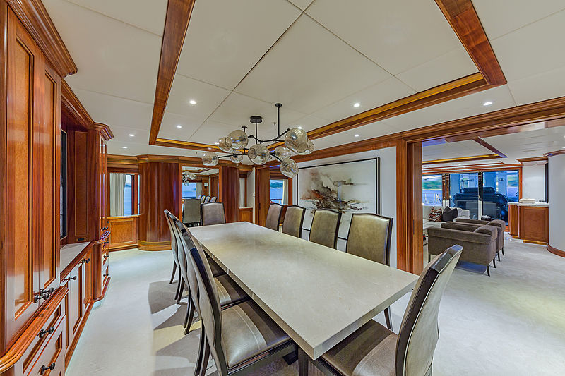 Unbridled yacht dining table