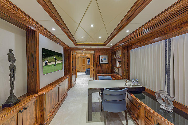 Unbridled yacht owner's study