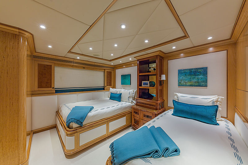 Unbridled yacht stateroom