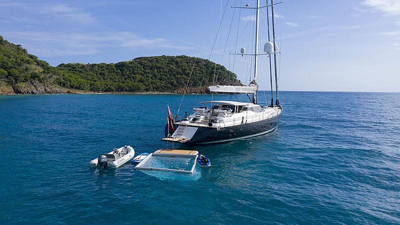 Radiance yacht anchored