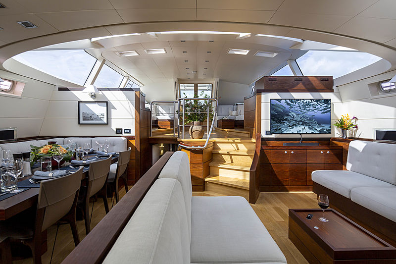 Radiance yacht saloon