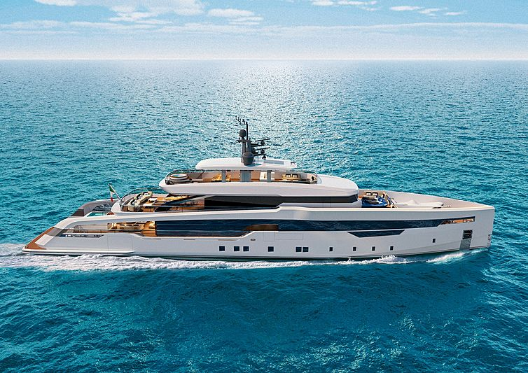 CRN 142 52m yacht rendering