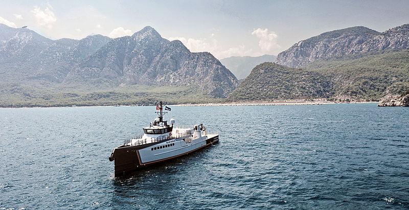 Blue Ocean yacht by Damen Yachting on sea trials