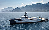 Blue Ocean yacht by Damen Yachting on sea trials