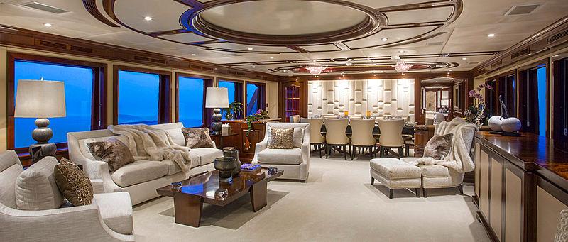 Bacchus yacht saloon