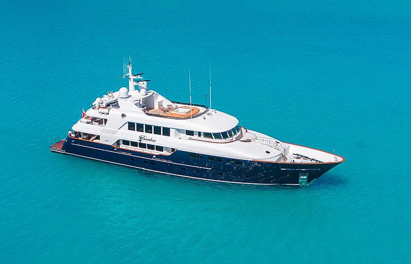 Bacchus yacht at anchor
