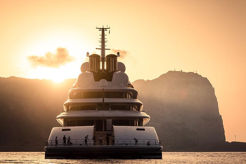 Yacht Azzam in Gibraltar