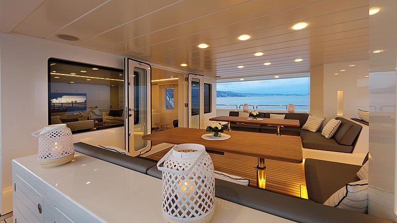Siempre yacht aft deck