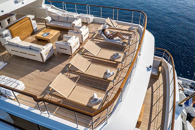 Sunrise yacht deck