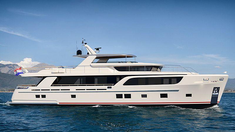 Guido de Groot Van der Valk 30m yacht concept