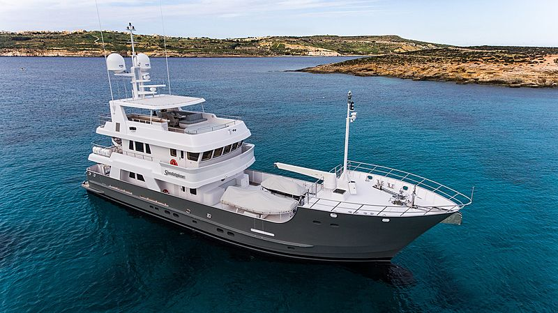 Sandalphon yacht anchored