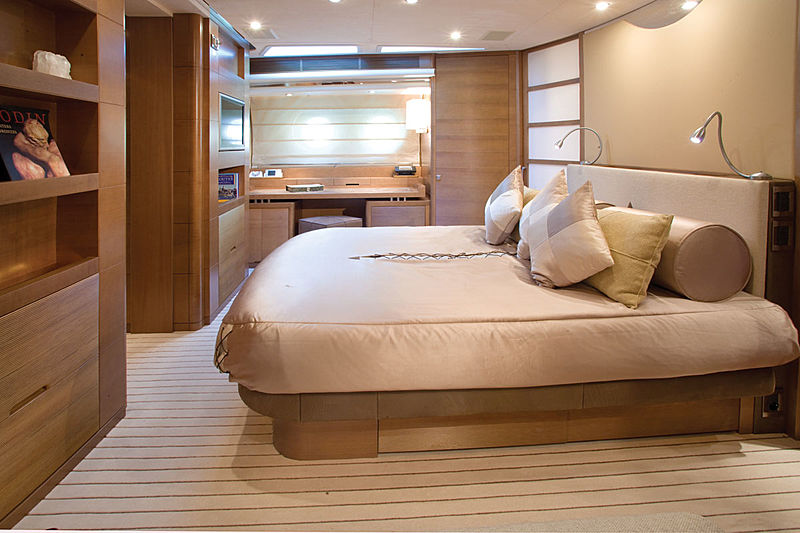 Moon Goddess yacht stateroom