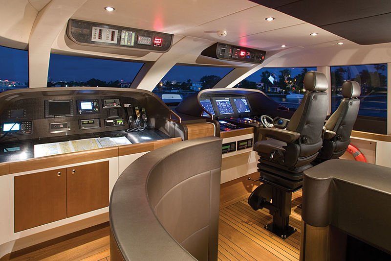Moon Goddess yacht pilothouse