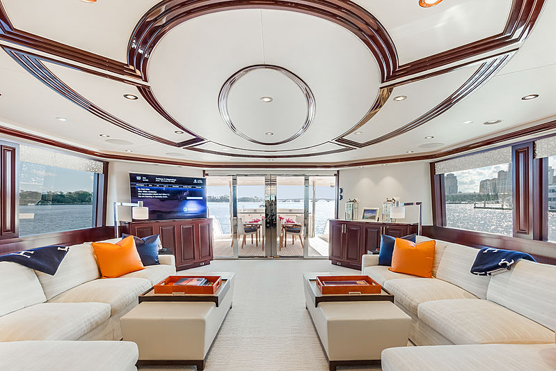 Our Heritage yacht saloon