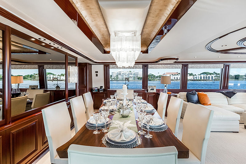 Our Heritage yacht dining