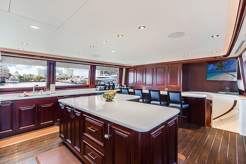 Our Heritage yacht galley