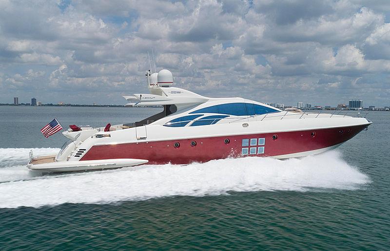 Scarlet yacht cruising