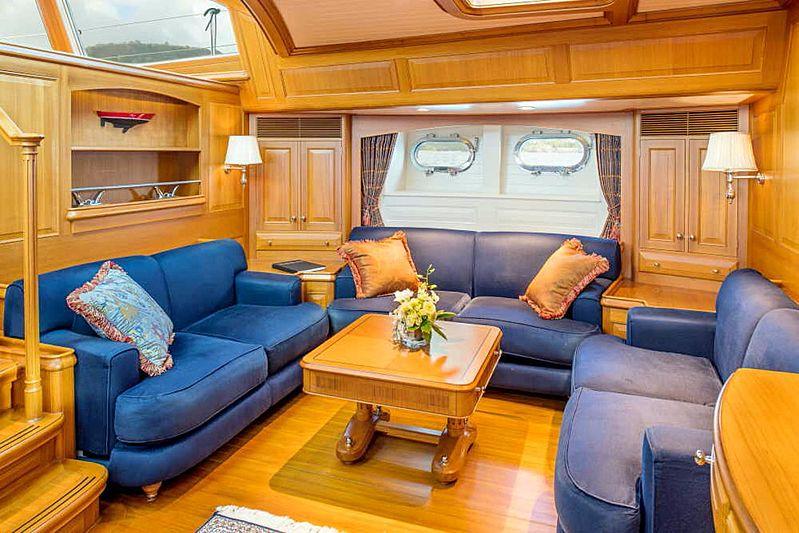 Blue Too yacht saloon