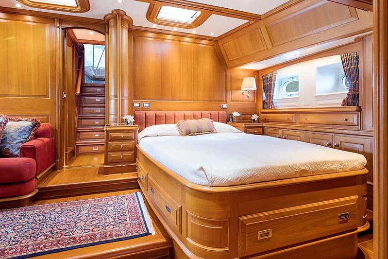 Blue Too yacht stateroom