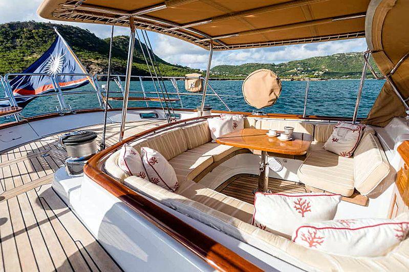 Blue Too yacht deck