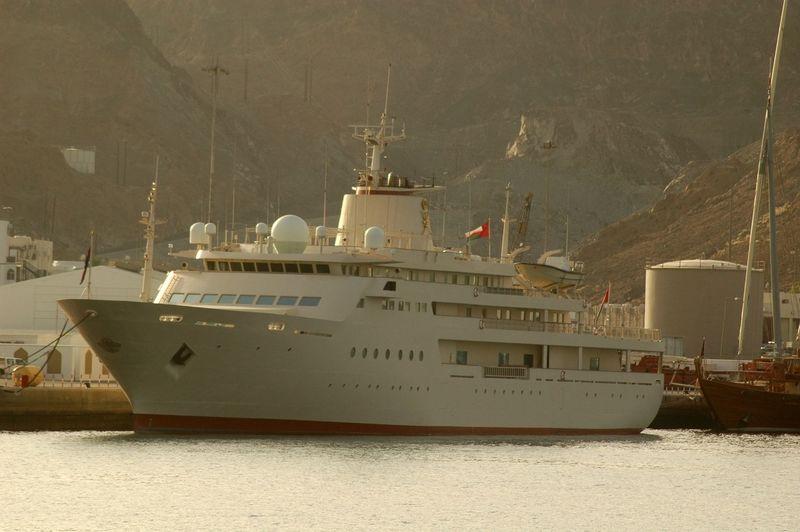 Al Said at her home berth in Muscat, Oman