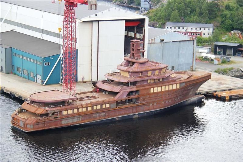 PJ World hull at the shipyard in Norway