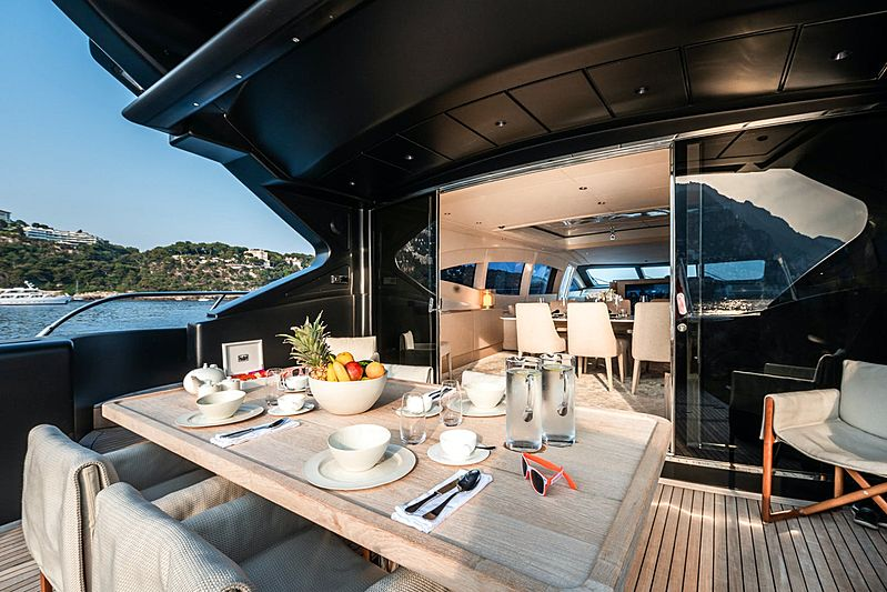 Neoprene yacht aft deck
