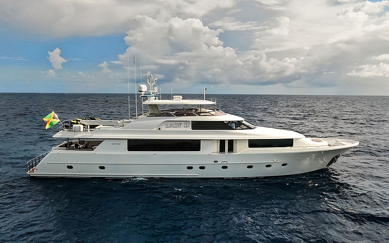 Lady JJ yacht at anchor