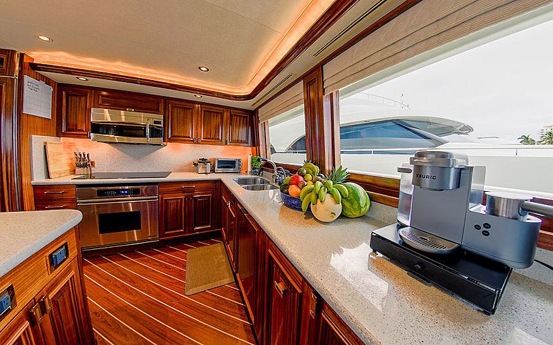 Lady JJ yacht galley