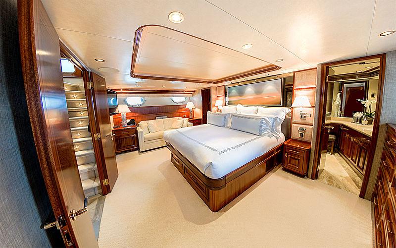 Lady JJ yacht stateroom