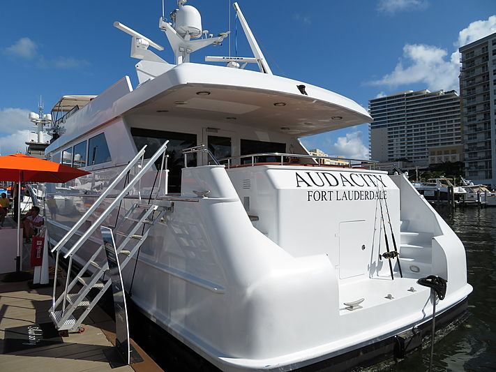 Audacity yacht at Fort Lauderdale International Boat Show 2019