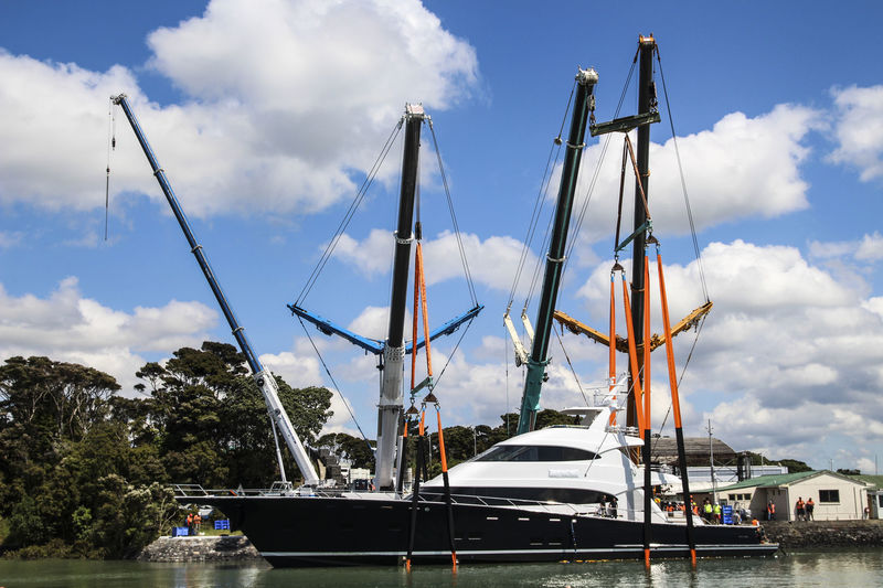 Hull 1015 launched at Yachting Developments