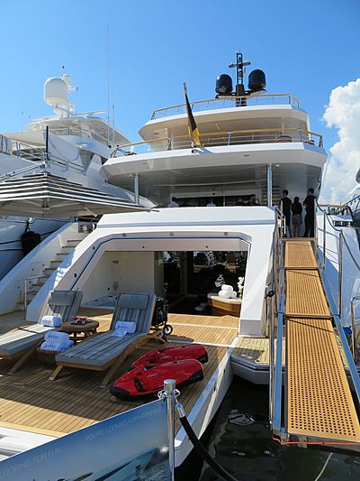 Baba's yacht at Fort Lauderdale International Boat Show 2019