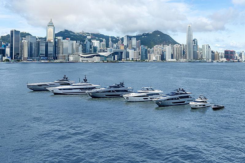 Ferretti Group yacht fleet in Hong Kong