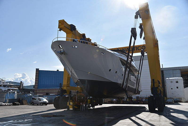 Maiora 30/02 yacht launch in Viareggio