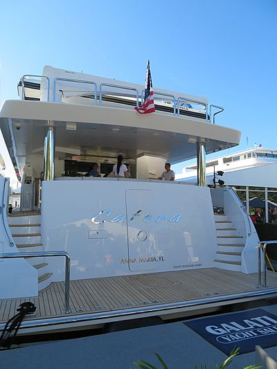 Catera yacht at Fort Lauderdale International Boat Show 2019