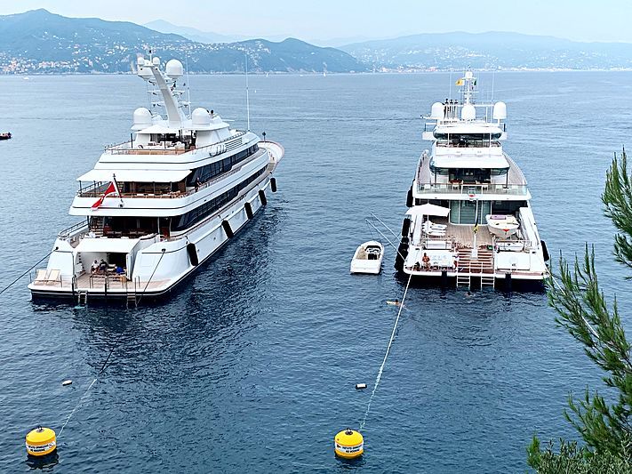Drizzle and Zeus yachts in Portofino