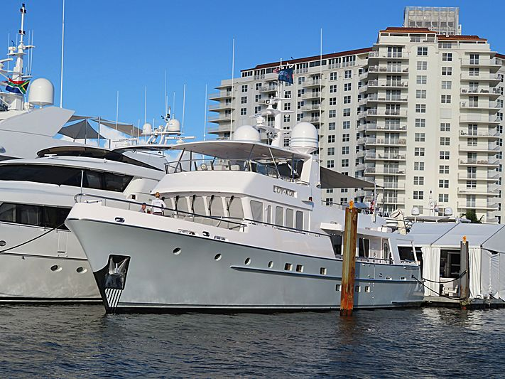Coy Koi yacht at Fort Lauderdale International Boat Show 2019