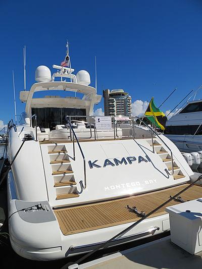 Kampai yacht at Fort Lauderdale International Boat Show 2019