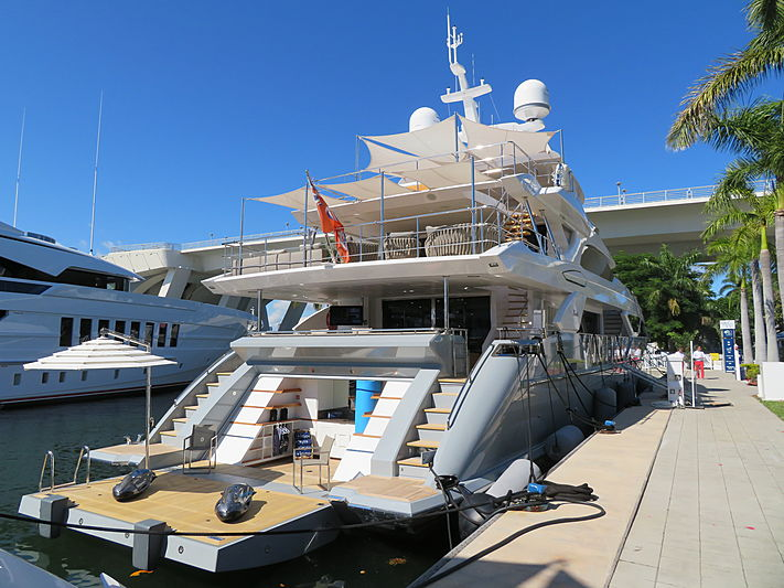 Lejos 3 yacht at Fort Lauderdale International Boat Show 2019