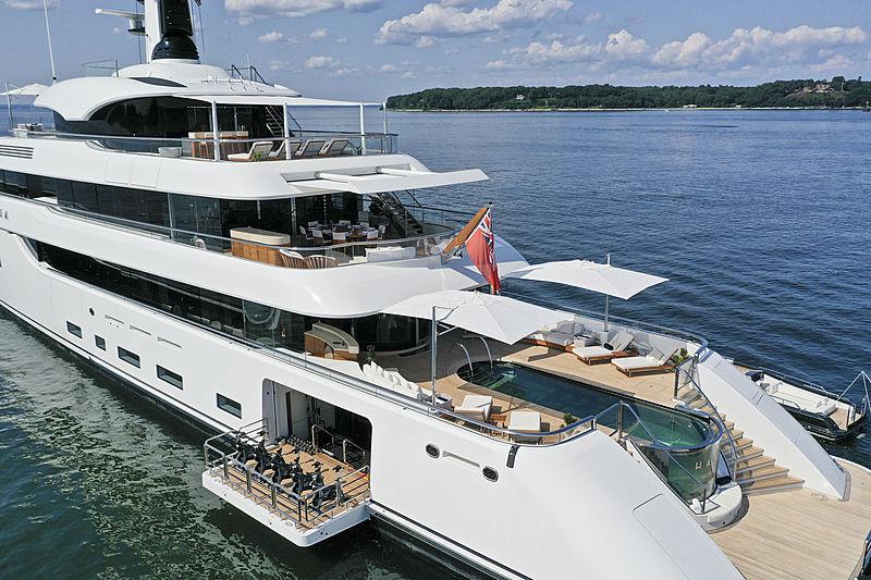 Hasna yacht aft decks